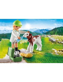PLAYMOBIL® 70252 VETERINARIA CON TERNERO