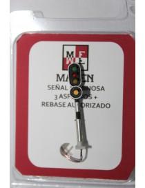 SEÑAL LUMINOSA  3 ASPECTOS + REBASE AUTORIZADO, MAFEN 4131.03