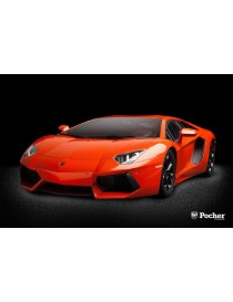 LAMBORGHINI AVENTADOR 1:8 MODEL KIT, POCHER HK100