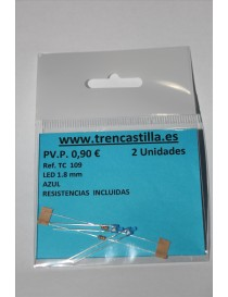 2 LED 1,8 mm AZUL, TRENCASTILLA TC109