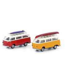 "SET 2 VW BUS T2 TRANSPORTER ""WASSERPORT"", MINIS LC3887"