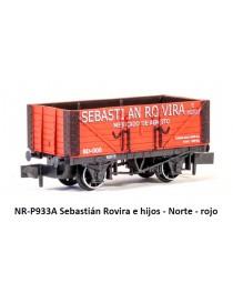 VAGÓN SEBASTIÁN ROVIRA E HIJOS, NORTE ROJO, PECO PNR-P933A