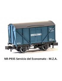 VAGÓN SERVICIO DEL ECONOMATO M.Z.A., PECO PNR-P935
