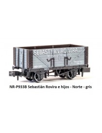 VAGÓN SEBASTIÁN ROVIRA E HIJOS, NORTE GRIS, PECO PNR-P933B