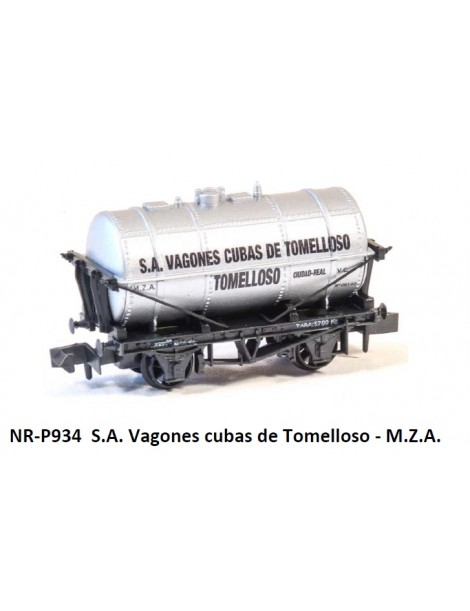 VAGÓN CUBAS DE TOMELLOSO S.A, M.Z.A., PECO PNR-P934