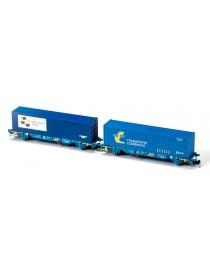 SET 2 PORTACONTENEDORES MC3 TRANSPORTE COMBINADO, MFTRAIN N33342