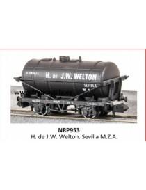 VAGÓN CISTERNA H. DE WELTON SEVILLA MZA, PECO PNRP953