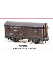 VAGÓN CERRADO TORO Y BETOLAZA, PECO PNRP940B