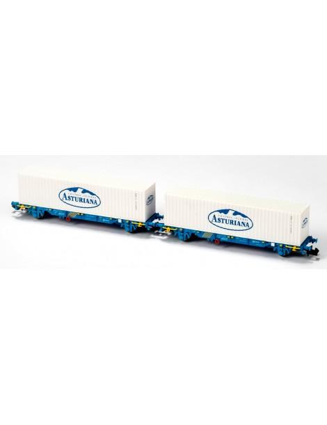 SET 2 PORTACONTENEDORES MC3 GALLETA BLANCA, MFTRAIN N33340