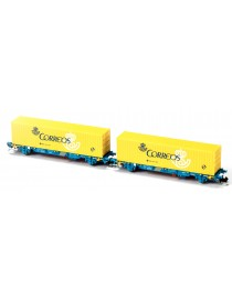 SET 2 PORTACONTENEDORES MC3 GALLETA BLANCA, MFTRAIN N33351