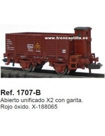 VAGÓN ABIERTO BORDE ALTO CON GARITA X-188065 , KTRAIN 1707-B