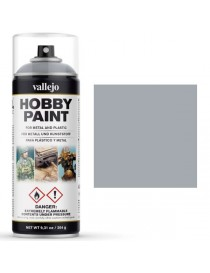 SPRAY HOBBY PAINT PLATA 400 ML, VALLEJO 28.021