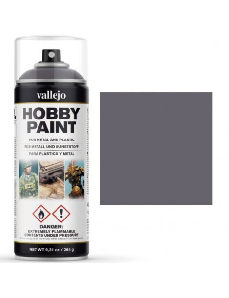 SPRAY HOBBY GRIS METAL 400 ML, VALLEJO 28.031