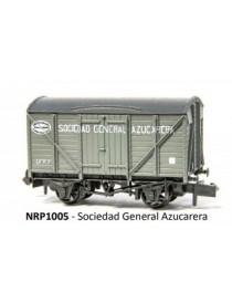 VAGÓN CERRADO SOCIEDAD GENERAL AZUCARERA, PECO PNRP1005