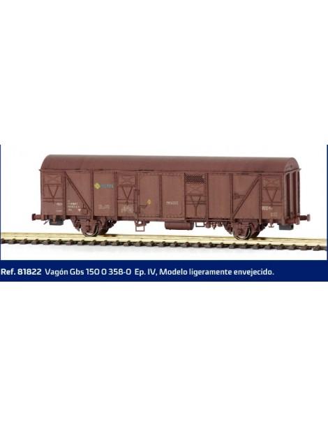 VAGÓN RENFE GBS 150 0 358-0, MABAR 81822