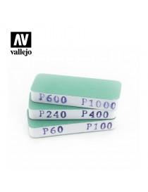 SET DE 3 TACOS DE LIJA DE DOBLE CARA, VALLEJO T04004