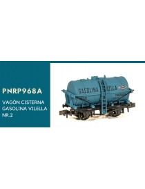 VAGÓN CISTERNA GASOLINA VILELLA, PECO NR-P968A