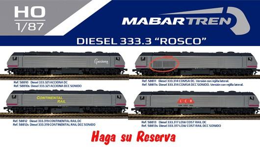 """Locomotoras Diesel 333.3 """"ROSCO"""""""