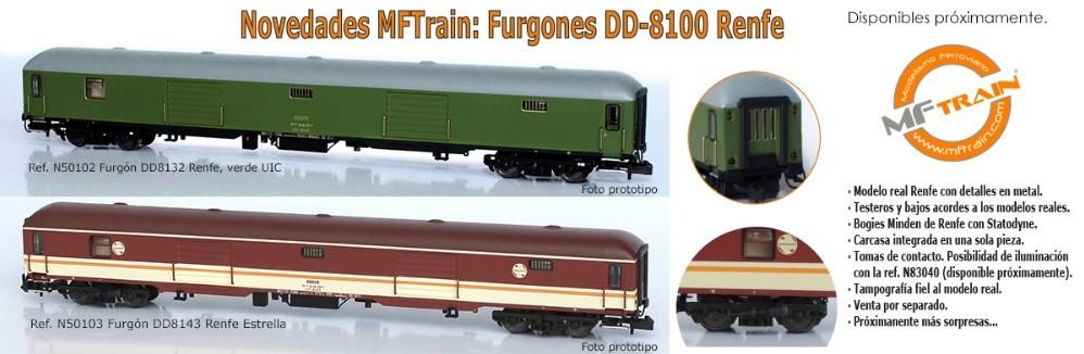 Furgones D-8100 Renfe Mftrain