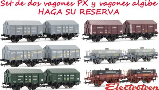 Set de dos vagones PX y vagones aljibe