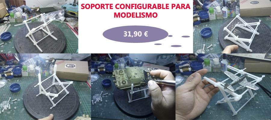 Soporte configurable para modelismo
